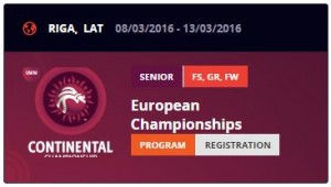 UWW European Wrestling Championships RIGA 2016